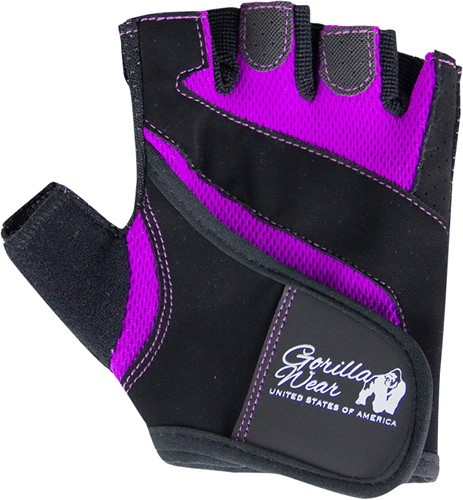Women's Fitness Gloves - Black/Purple
