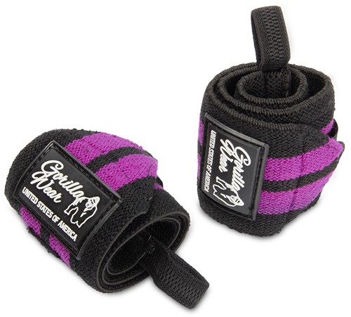 Women's Wrist Wraps - Black/Purple