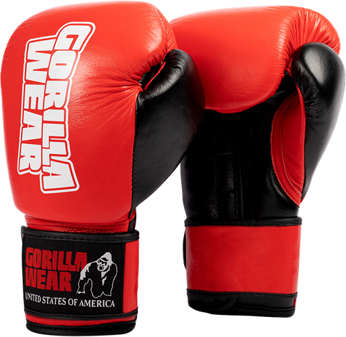 Ashton Pro Boxing Gloves - Red/Black