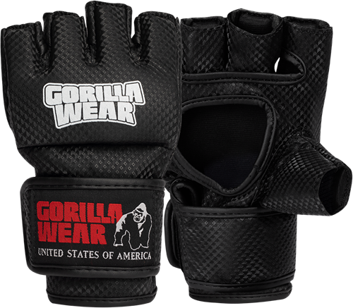 Manton MMA Gloves (With Thumb) - Black/White