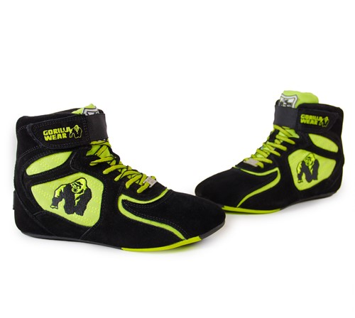 """Chicago High Tops - Black/ Neon Lime Limited""""""""""""""""-2"""
