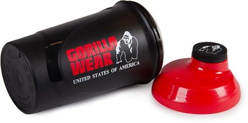 Gorilla Wear Wave Shaker 600ML - Black/Red-2